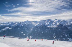 aulas em grupo ski