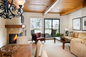 Sala de estar no apartamento de 1 Quarto -The Gant Aspen