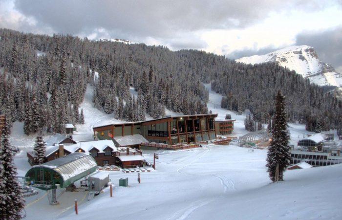 Ski Banff - a base da estação deSunshine Village