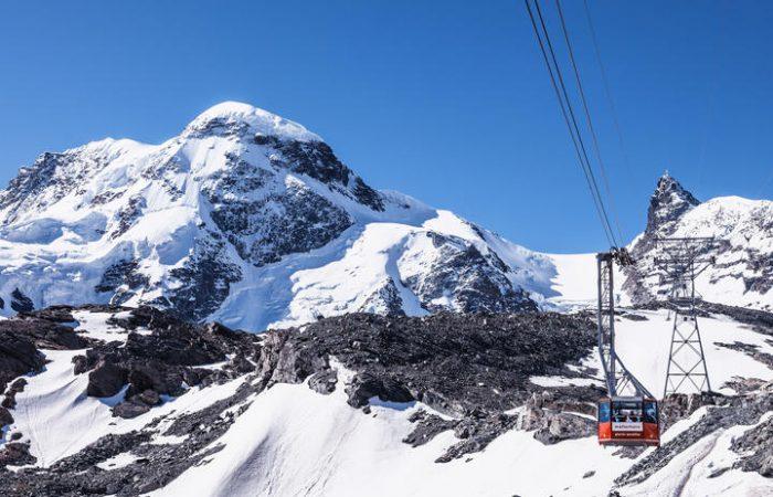Aerial tramway Matterhorn glacier paradise-zermatt